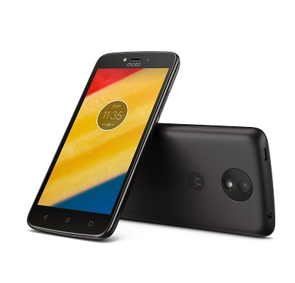 Moto C Plus Starry Black Front Back